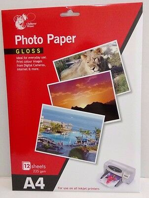 Photo Paper  Gloss A4  High Quality Digital Professional Glossy Inkjet 235Gsm
