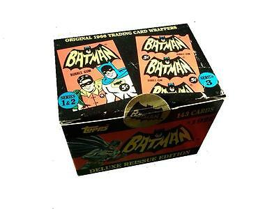 BATMAN 1966 TOPPS Delux 1989 Re Issue Edition 143 Box Set - TOPPS 1989