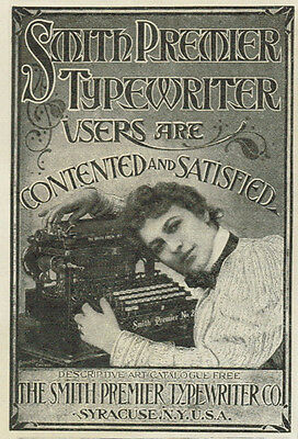 7 - 1899 Typewriter Yost Wellington Smith Wellington New Century Vintage Ad Lot