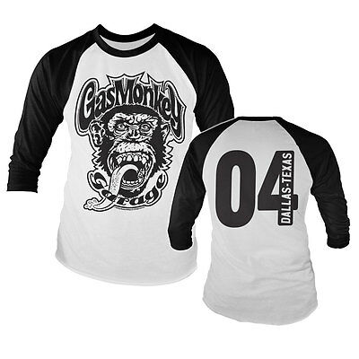 Gas Monkey Garage 04 Maniac Dallas Texas Baseball Long Sleeve T-Shirt Langarm