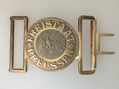 GENUINE Post WWI German Prussian State Police Officers belt buckle