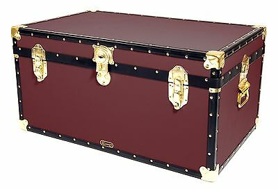 "WINE Traditional British Mossman Made 33"" Storage Otterman Trunk - Toy Box Chest"