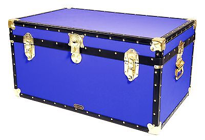 "BLUE Traditional British Mossman Made 33"" Storage Otterman Trunk - Toy Box Chest"