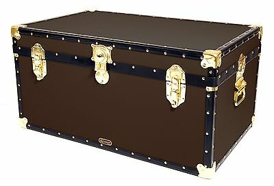 "BROWN Traditional British Mossman Made 33"" Storage Otterman Trunk Toy Box Chest"