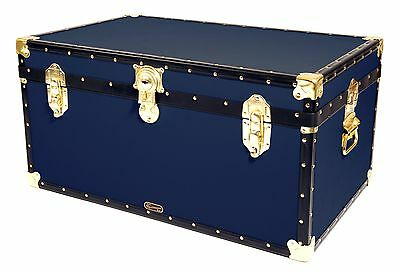 "NAVY Traditional British Mossman Made 33"" Storage Otterman Trunk - Toy Box Chest"