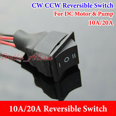 10A 20A DC Motor Pump CW CCW Reversible Switch Three-way Reversible Controller