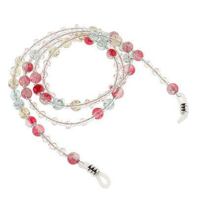 Pink Beaded Eyeglass Holder Sunglasses Necklace Spectacles Cord Rope Strap