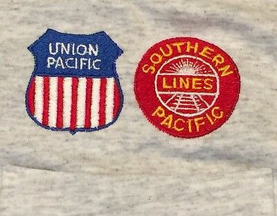 VTG 1980's SOUTHERN PACIFIC LINES UNION PACIFIC Railroad Train Conductor Shirt