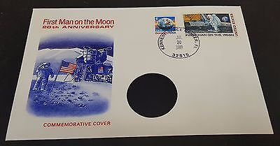 First Man on the Moon 20th Anniversary Separated Commemorative Coin Cover