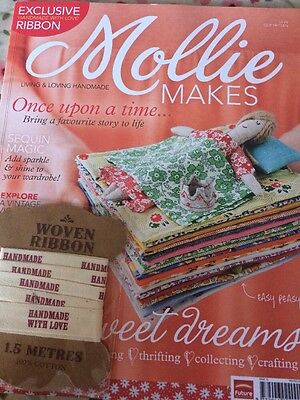Vintage Mollie Makes Magazine (with Unused Ribbon Gift) Issue #15