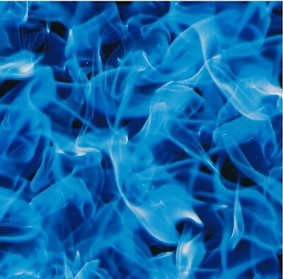 Hydrographic Water Transfer Hydrodipping Film Hydro Dip Extreme Blue Flame 1M