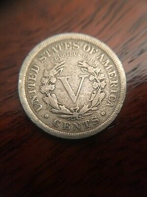 1910 USA Five (5) Cents (nickel)