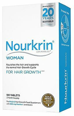 NEW Nourkrin Woman For Hair Growth - 180 Tablets 3 Month Supply
