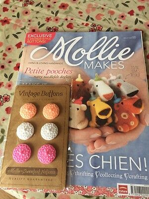 Vintage Mollie Makes Magazine (with Unused Buttons Gift) Issue #13