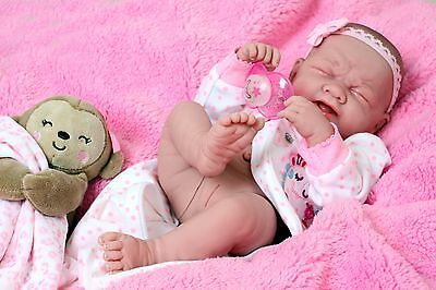 Crying American Reborn Baby Girl Doll Full Vinyl Newborn Baby Preemie Lifelike