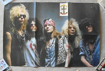 Original 1987 GUNS N ROSES double sided fold out poster (92cm x 61cm)