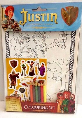 Justin and the Knights of Valour: Colouring Set (Stickers, Colouring Pencils, A4