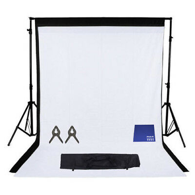 Phot-R 2mx3m Studio Stand 2x 3mx6m Non-Woven Coloured Background Chamois Cloth