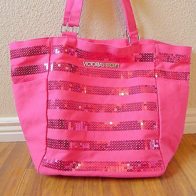 Victorias Secret Large Tote /Beach/ Gym Bag Hot Pink