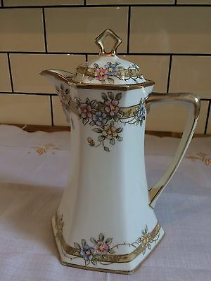 Stunning Antique Art Nouveau Noritake Chocolate Coffee Pot