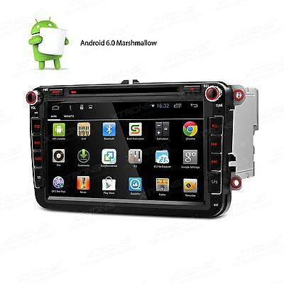 "RADIO DVD GPS LCD 8"" TACTIL HD Seat Skoda y Volkswagen Android 6.0 Bluetooth USB"
