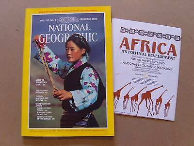 National Geographic Magazine - February 1980 - Africa Political Map Included