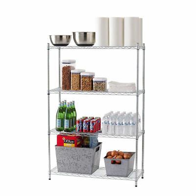 Tidy Living - 4 Tier Wire Shelf Heavy Duty Adjustable Organization Rack 36x14x54