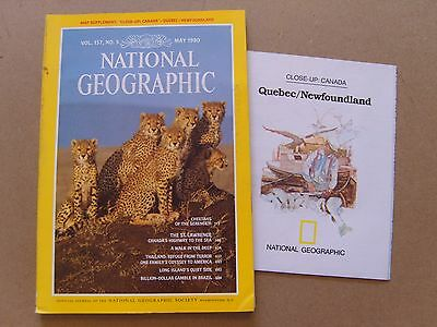 National Geographic Magazine - May 1980 - Quebec / Newfoundland Map Included