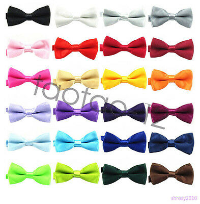 New Children Boys Toddler Infant Bowtie Pre Tied Clip on Wedding Bow Tie THB0003