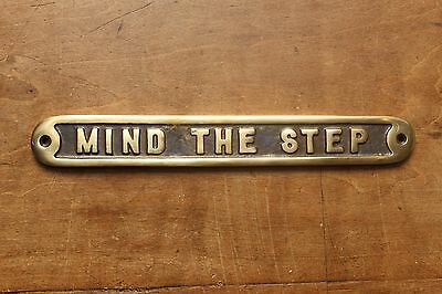 Mind The Step Old Antique Style Pub Vintage Sign Solid Cast Brass Message~Bs-02