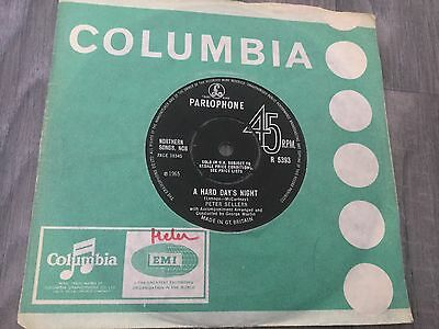 """Peter Sellers """"A Hard Day's Night"""" 7"""" single."""