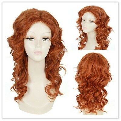 Parrucca catsano rame tinkerbell cosplay wig capelli acconciabile fino a 200°