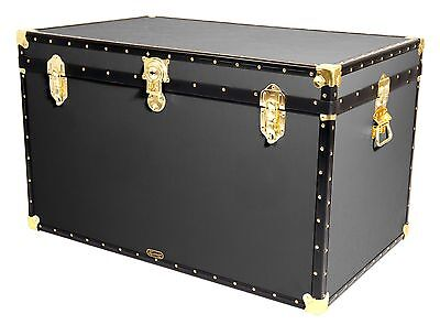 "GREY Traditional British Mossman Made 40"" King Size Storage Travel Chest Trunk"