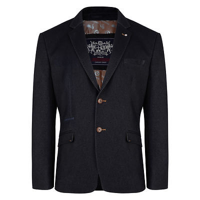 Lambretta Mens Indigo Smart Formal Wedding Groom Prom Blazer Jackets