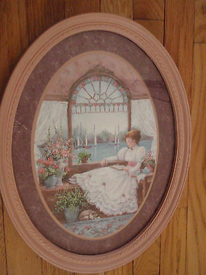 Home Interior by Barbara Mock Girl sitting by the stained glass window looking s