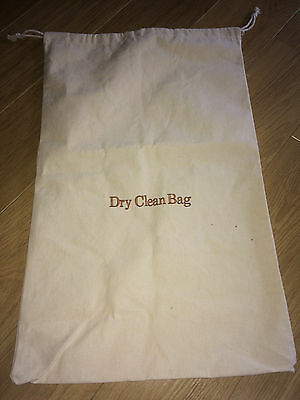 """Nwot Beige Thick Organic Cotton """"dry Clean Bag"""" Witih Drawstring Top"""