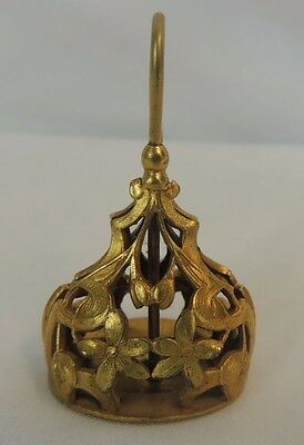 Vintage Antique Gold Filled Floral Filigree Wax Seal Fob