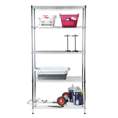 Tidy Living - 5 Tier Wire Shelf Heavy Duty Adjustable Organization Rack 36x16x72