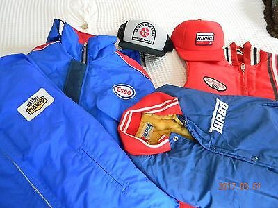 Lot of Vintage Gas Station Jackets and Hats