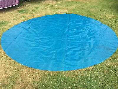 Blue Silver 400 micron Solar Bubble Cover 18ft Round Intex EasySet Pool Bestway