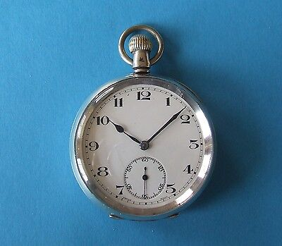 Rare Antique Solid Silver Swiss Pocket Watch, Good Condition, Working