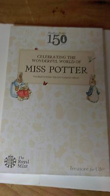 Full Set of Beatrix Potter 50p Coins in Royal Mint album