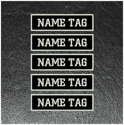 Custom Embroidered Sew On Name Tag Patches x 5 - Sew On, Biker,  Motorcycle, MC
