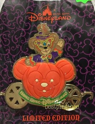 Hong Kong Disney pin - HKDL 2014 Halloween Pumpkin Car Series - Duffy LE RARE
