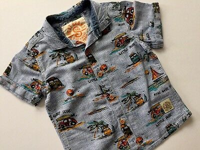 Next Baby Boys Summer Holiday Short Sleeve Shirt Age 12-18 Months