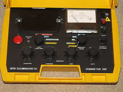 GPO/BT Engineers Tester Ohmeter 18C Manufactured By Metrohm Good Working Order