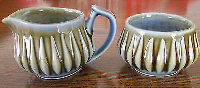 Irish Porcelain - Raindrop pattern - Cream and Sugar