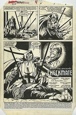 """Beauty And The Beast #4 Page 1 Title Splash Don Perlin Comic Art 10"""" X 15"""""""