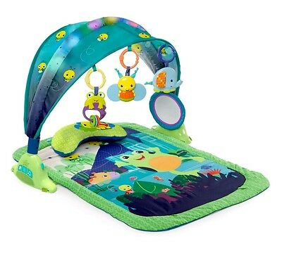 Bright Starts Light Up Lagoon Activity Gym Play Mat with Music & Lights
