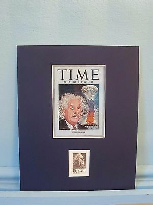 Albert Einstein on Time Magazine Cover honored by his own stamp